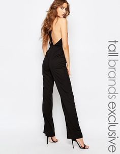 0c74534c3793 True Decadence Tall Strappy Open Back Detail Jumpsuit at asos.com