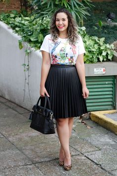 Look do dia: Saia plissada engorda