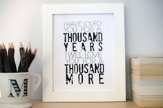 I HAVE LOVED YOU by thelovelywords on Etsy, $12.00 // VALENTINE'S DAY //