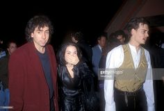 Tim Burton, Winona Ryder and Johnny Depp