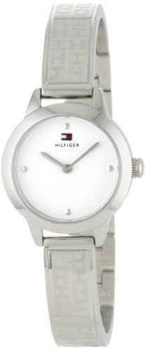 Tommy Hilfiger Women s 1781090 Classic Stainless Steel TH Embossed Bangle  Watch bbd1cadc1127