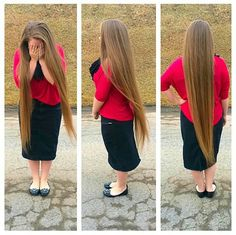 Skirt is a good length. Sometimes Pentecostal girl's hair is longer than the skirt