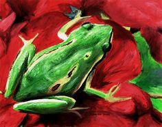 Frog - acrylic painting