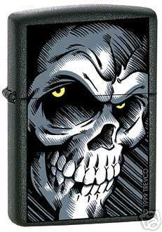 "Zippo ""Big Skull"" Black Matte Lighter   #ZIPPOLIGHTER #zippolighter"
