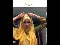 tutorial hijab zaskia adya meca - YouTube