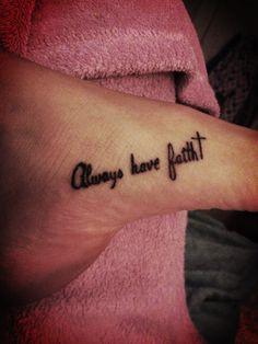 Foot tattoo. Love mine.