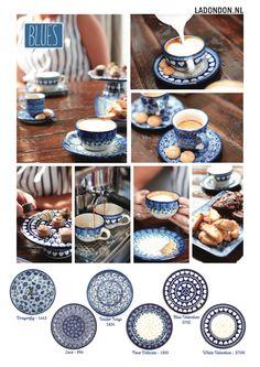 Blue Pottery, Ceramic Pottery, Blue Valentine, Blue And White Dinnerware, Mood Board Interior, Polish Pottery, Hand Painted Ceramics, Ceramic Painting, Bone China