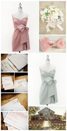 fashion, style, bow ties, bridesmaid dresses, pink