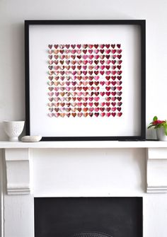 Custom heart picture, with wedding dates, names, children, etc.