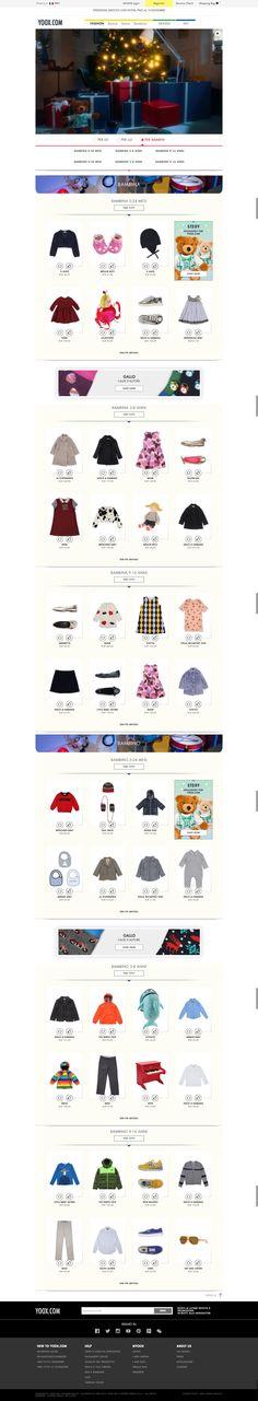 #landingpage #Christmas Yoox - Main Page Gift for Kid