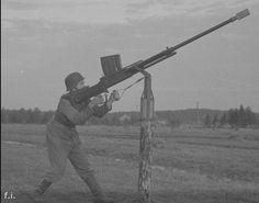 Lahti L-39-44 used as anti aircraft gun