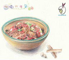 美食绘本集——江西篇-吃奥特曼的小怪兽_美食  插画  绘本  手绘_涂鸦王国插画