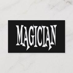 237 best magician business cards images in 2020 business. Black Bedroom Furniture Sets. Home Design Ideas