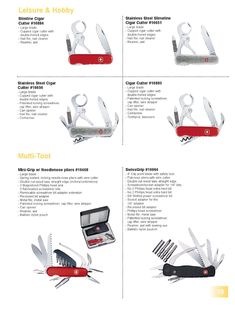 Wenger Swiss Army Knife Catalog Page 2002 - 2003 Best Pocket Knife, Pocket Knives, Wenger Swiss Army Knife, Cool Knives, Cold Steel, Knife Making, Cigar Cutter, Folding Knives, Survival Tips