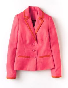 love this bright pink and red blazer