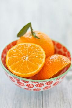 Bright oranges in a fun bowl, I love citrus colors for summer. image found on Tumblr, original source unknown