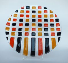 Dish Glass object Geo made by Atelier Levend Glas by LevendGlas, €125.00