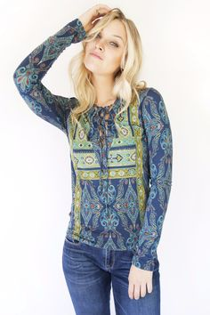 Free People Aloha Tee Blue Summer I Women's Clothing I Boutique | Sale Free people