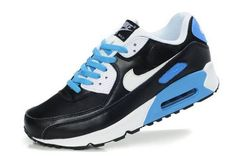 Nike Air Max 90 Mens Black/White-Photo Blue NK-shoes249