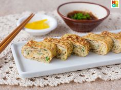 Tamagoyaki  (Japanese Egg Roll Omelette) by Noob Cook. Easy 20-minute recipe for Japanese egg roll with youtube video demonstration.