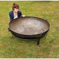 Handmade Iron Kadai Fire Pits - Amrita (40kg - 45kg) - Kadai Fire Bowls - Garden Wood Burners - Garden & Outdoor Living - Catalogue   Black Country Metal Works