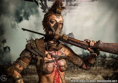 Wasteland warrior / women's fashion / post apocalyptic female / dystopia / cosplay / LARP / fierce as all heck!!
