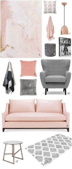 Blush- the colour on everyone cheeks has definitely transitioned its  wayinto fashion and homes over the past few months. Mixed with moody hues  like grey or charcoal it's a colour that is soft enough to be pretty, but  neutral enough...