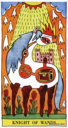 Knight of Wands - Tarot del Fuego by Ricardo Cavolo