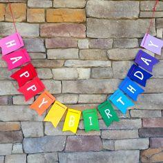 Happy Birthday Rainbow Felt Bunting | Jane