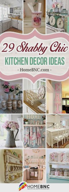 Shabby chic kitchen decor ideas blend the old and the new with style and grace. Get inspired by the best designs and give your kitchen a new look!
