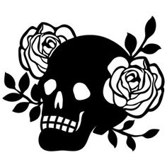 Silhouette Design Store: floral skull
