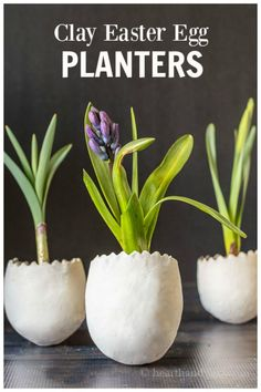 Learn how to make decorative egg planters with air dry clay to hold fresh and faux flowers. Perfect for your spring and Easter table. Easter Table, Easter Eggs, Easter Dinner, Diy Osterschmuck, Diy Crafts, Decor Crafts, Small Balloons, Diy Easter Decorations, Backyard Projects