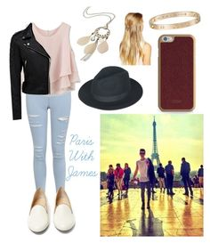 """""""Paris With James"""" by the-vamps-outfits ❤ liked on Polyvore featuring Miss Selfridge, Chicwish, Forever New, Charlotte Olympia, ID-INFINITE, maurices, Cartier and DesignSix"""