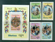 Bhutan 1981 Charles & Diana Royal Wedding +MS MUH lot81852