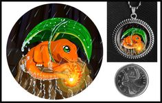 Charmander Pokemon necklace on Etsy for $10.