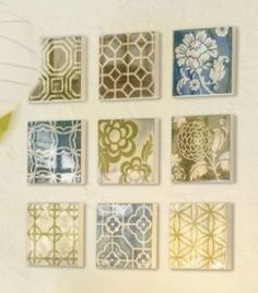 Frugal Life Project: Cool Dollar Store Wall Art....tell Shelley....all that scrapebook paper!