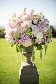 Blumengestecke für Hochzeit Vase