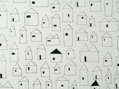 pequeñas casas dibujadas