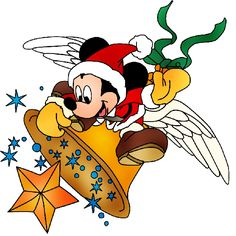 Mickey Mouse Xmas Clip Art Images. Click On Image To Enlarge Then Right Click To Save To Your Computer.