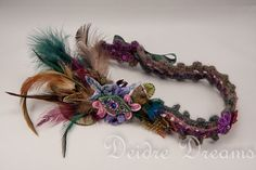 - SOLD - Fairy Bridal Headband  Luxury Hippie Flapper by DeidreDreams, $70.00