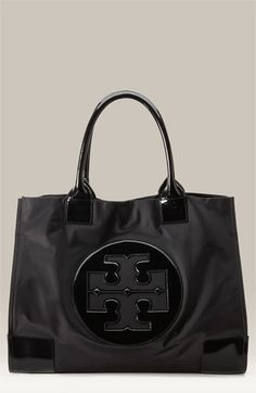 Tory Burch Nylon Tote ~ the material would be easy to clean so it could be a good travel bag.