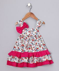 Take a look at this Pink Floral Swing Dress - Infant by Lilly & Sid and wobabybasics on #zulily today!