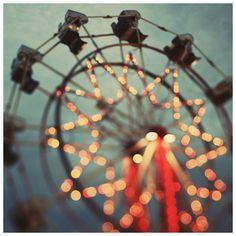 Fair Photograph - Ferris Wheel Photograph - Fine Art Photography - Summer - Fair - Lights - Original Art - Starfall. $35.00, via Etsy.
