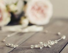 Bridal headpiece simple bridal headband hair от JoannaReedBridal