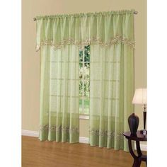 Cavalier Lace Scalloped Valance, Green