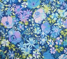 Makower Floral Fabric in Blue - Fat Quarter £1.50 #fabric #sewing #natural #cotton #creative #craft