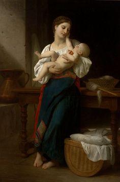 William Adolphe Bouguereau - Premieres Caresses (1866)