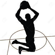 Resultado de imagen de dibujos siluetas baloncesto