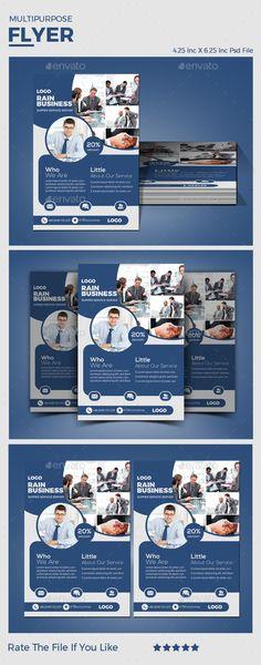 Buy Multipurpose Flyer by on GraphicRiver.PSD files 1 Unique Design Inc x Inc Creative Flyer Design, Creative Flyers, Page Design, Book Design, Rain Logo, Fitness Flyer, Marketing Flyers, Service Logo, Web Banner Design
