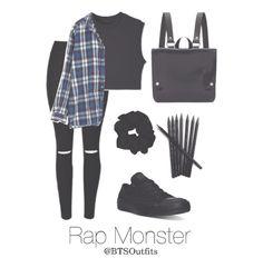BTS RapMon/Namjoon School outfit